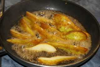 Pears in Madeira with gorgonzola by Nigella Lawson